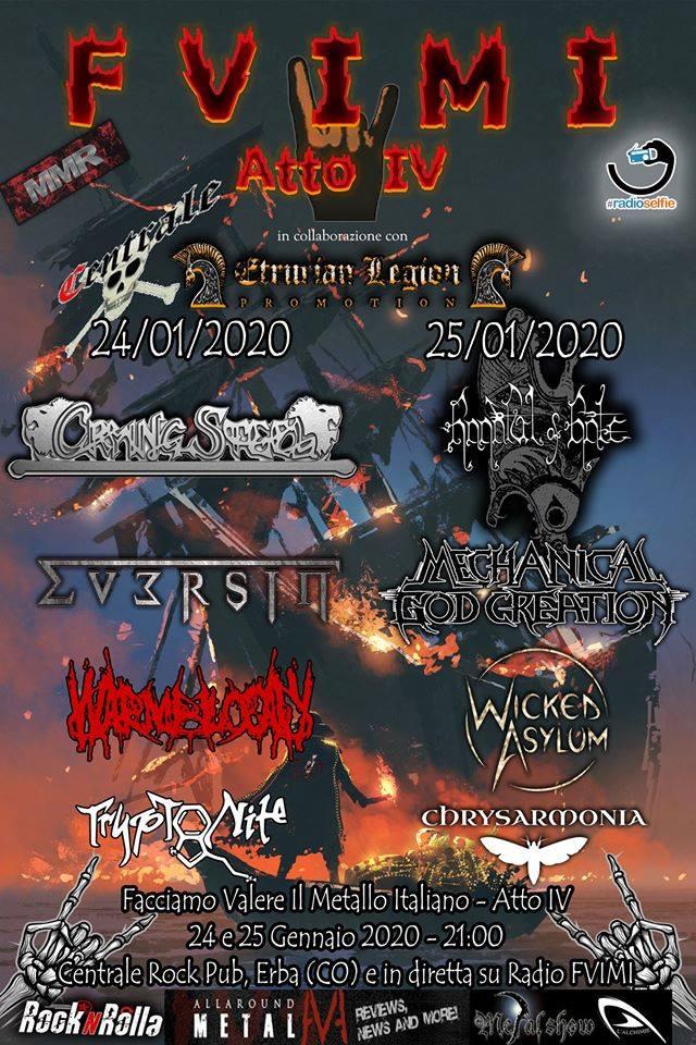 FVIMI Fest ATTO IV: 2 serate al Centrale Rock Pub di Erba a gennaio