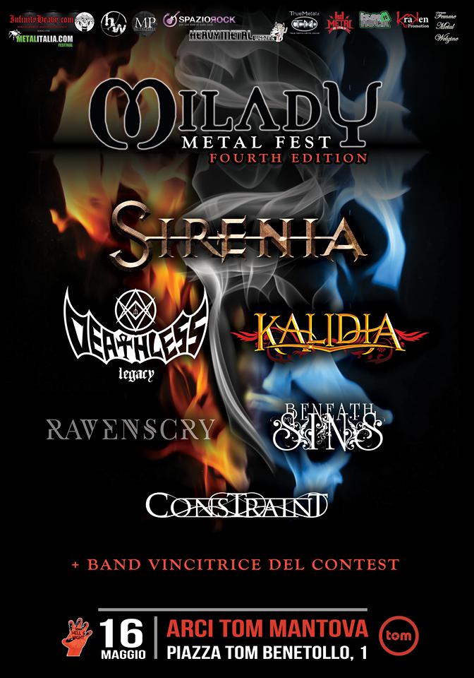 MILADY METAL FEST IV EDITION: il 16 maggio all'Arci Tom di Mantova