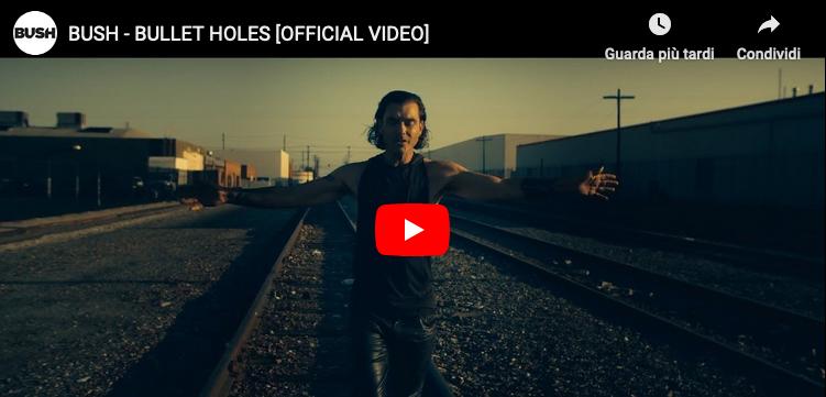 """Bush: il video del nuovo singolo """"Bullet holes"""""""