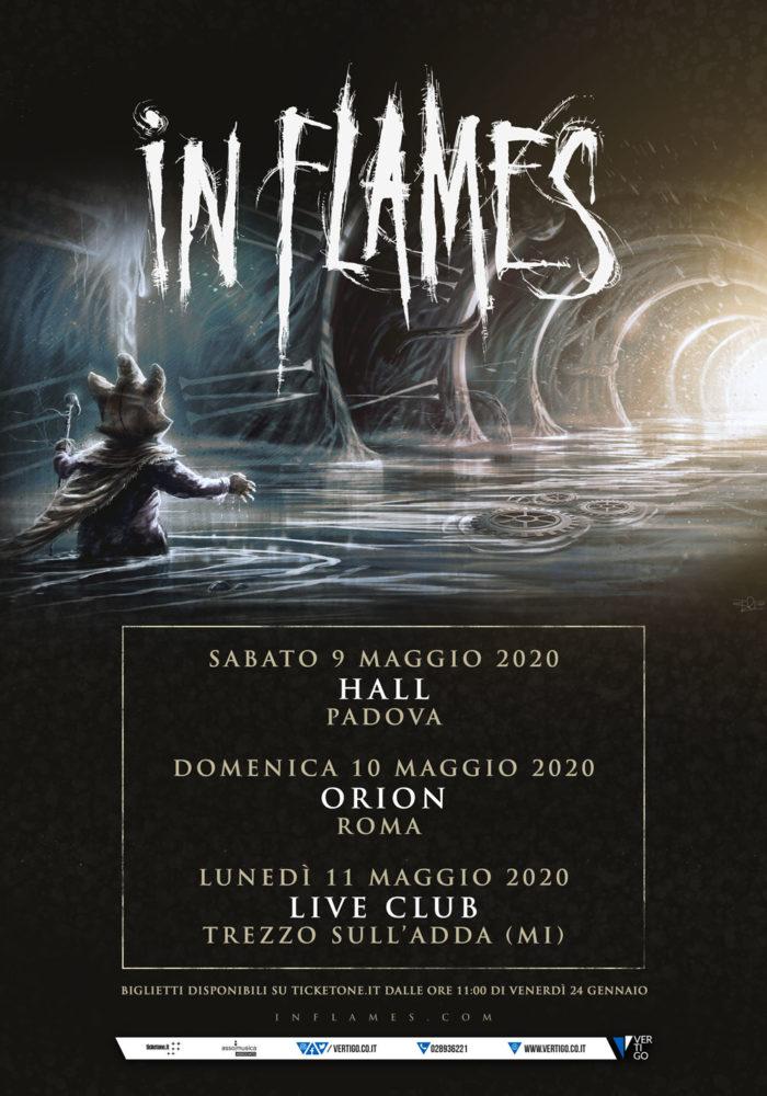IN FLAMES: a maggio in Italia per 3 date