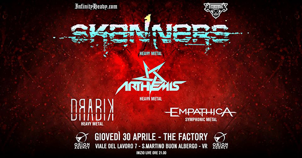 Skanners e Arthemis al The Factory