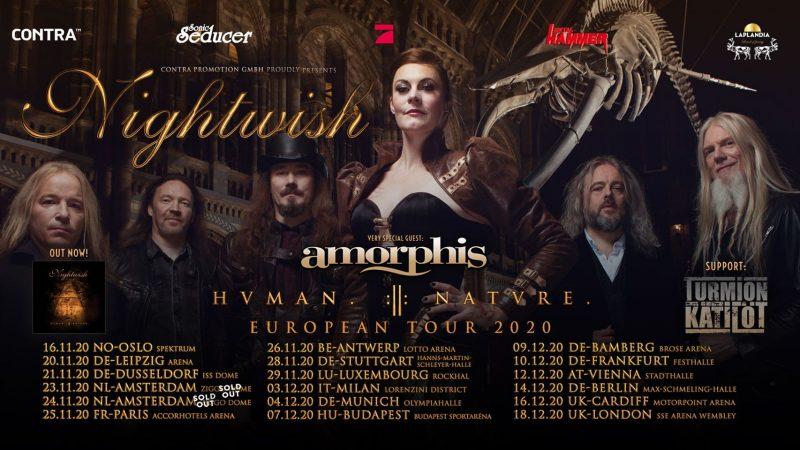 NIGHTWISH: annunciati gli special guest del tour europeo
