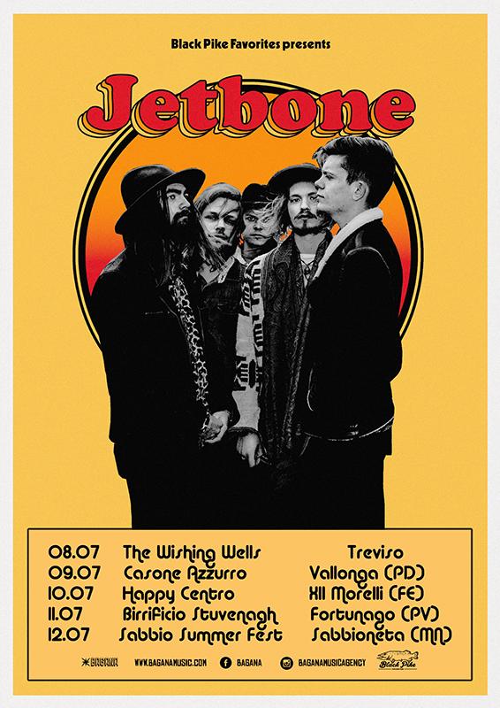 Jetbone in tour in Italia a luglio