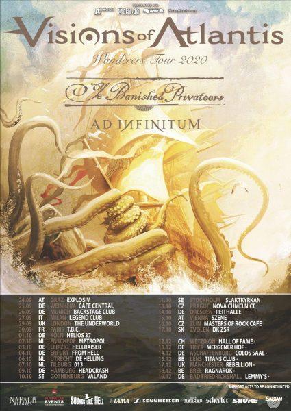 VISIONS OF ATLANTIS: tour europeo rimandato