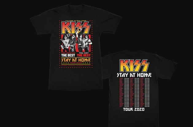 KISS: disponibile la t-shirt benefica 'Stay At Home'