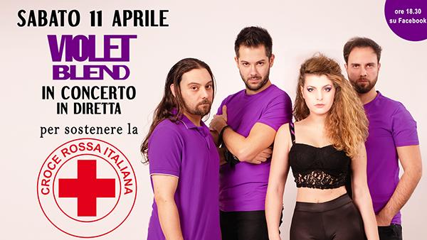 Concerto in streaming dei Violet Blend a sostegno di Croce Rossa Italiana