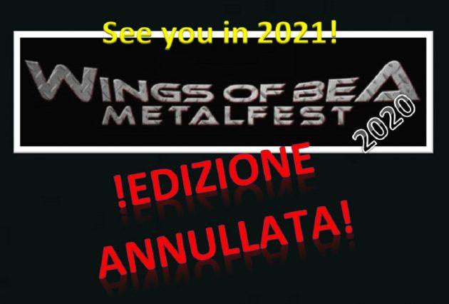 WINGS OF BEA METALFEST: annullata l'edizione 2020