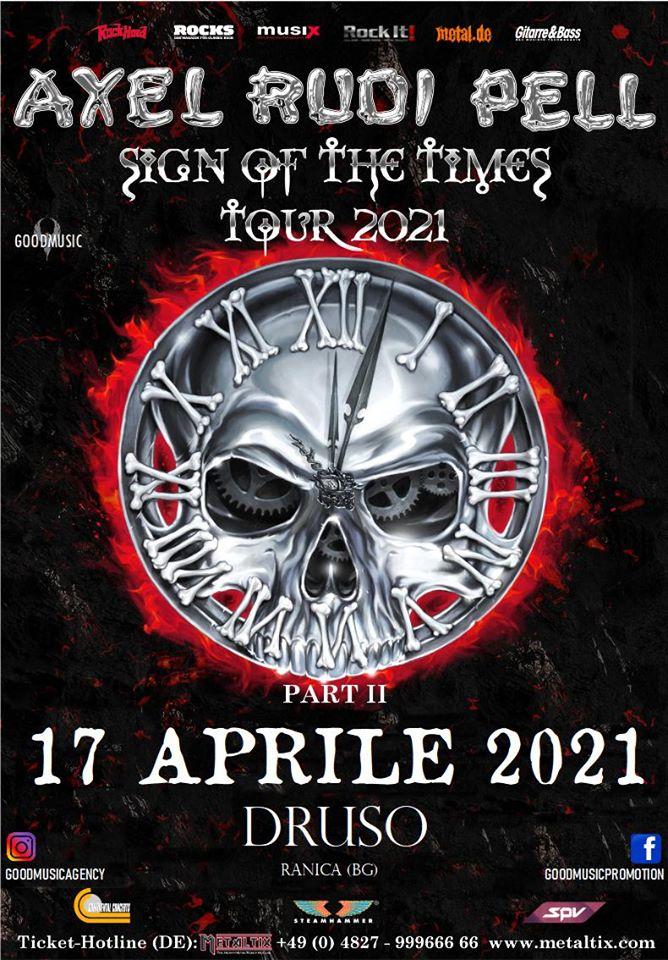 AXEL RUDI PELL: annullata la data al Druso, rinviata ad aprile 2021