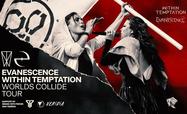 EVANESCENCE e WITHIN TEMPTATION: le nuove date del Worlds Collide Tour