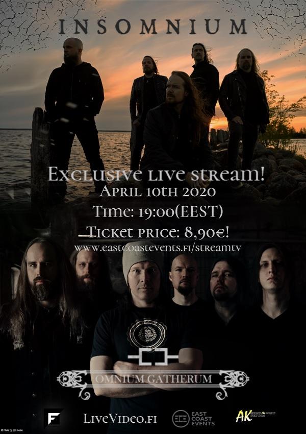 INSOMNIUM, OMNIUM GATHERUM: si esibiranno in streaming il 10 aprile