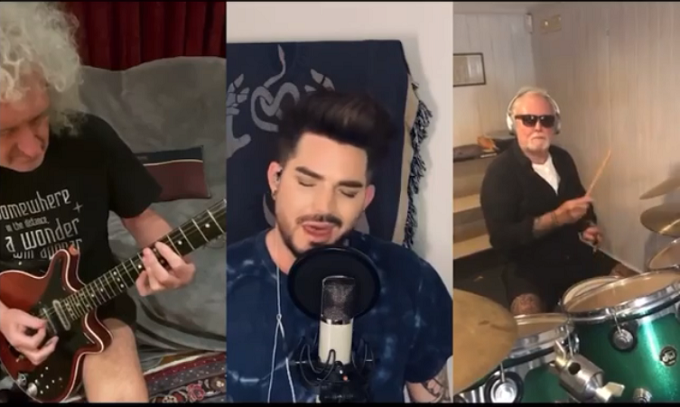 QUEEN + ADAM LAMBERT suonano 'We Are The Champions' in quarantena (Video)