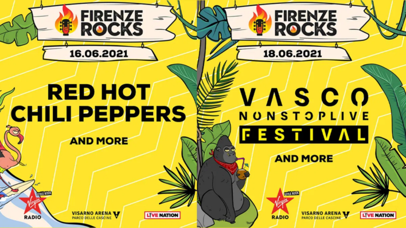 FIRENZE ROCKS 2021: confermati headliner RED HOT CHILI PEPPERS e VASCO ROSSI