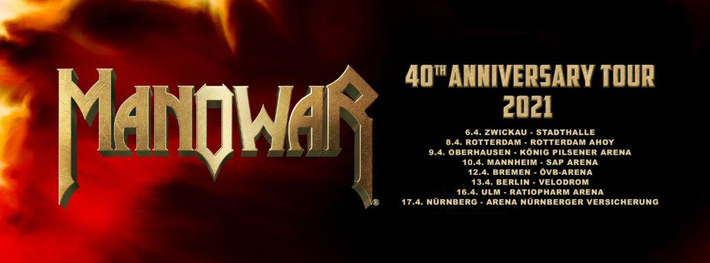 "MANOWAR: ""40th Anniversary Tour 2021"" le prime date"