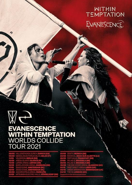 WITHIN TEMPTATION, EVANESCENCE: rimandato a settembre 2021 il tour europeo