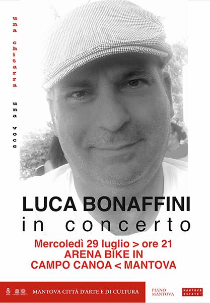 Luca Bonaffini in concerto al Bike In di Mantova
