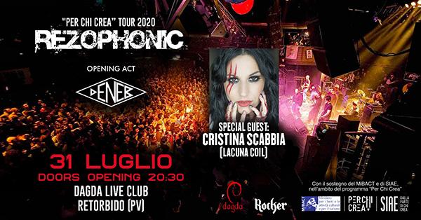 Rezophonic + Cristina Scabbia per il 6° compleanno del Dagda Live Club di Pavia