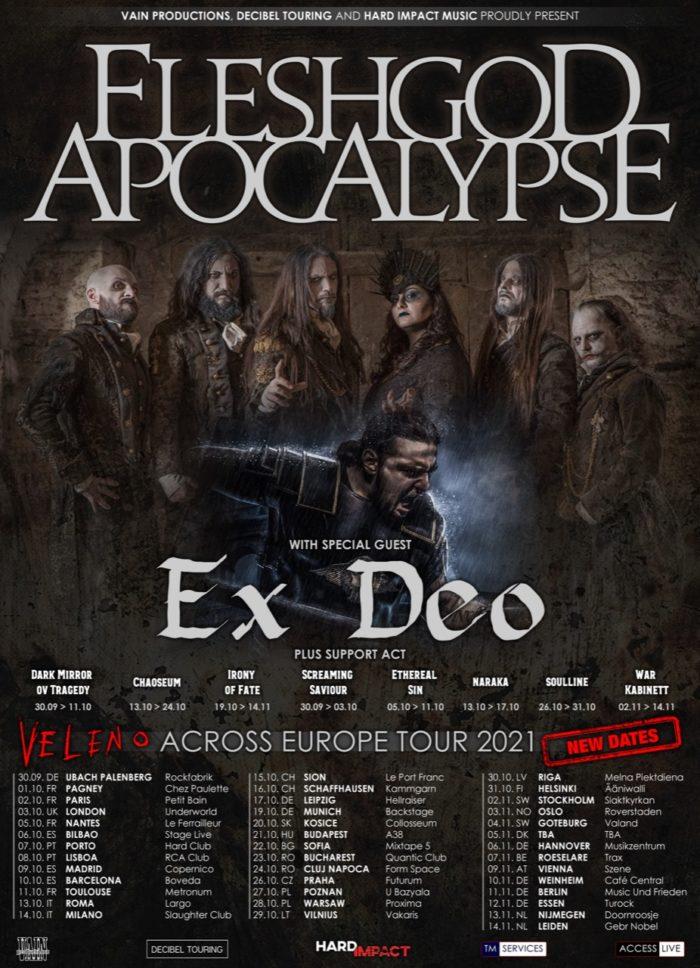 FLESHGOD APOCALYPSE: tour riprogrammato al 2021