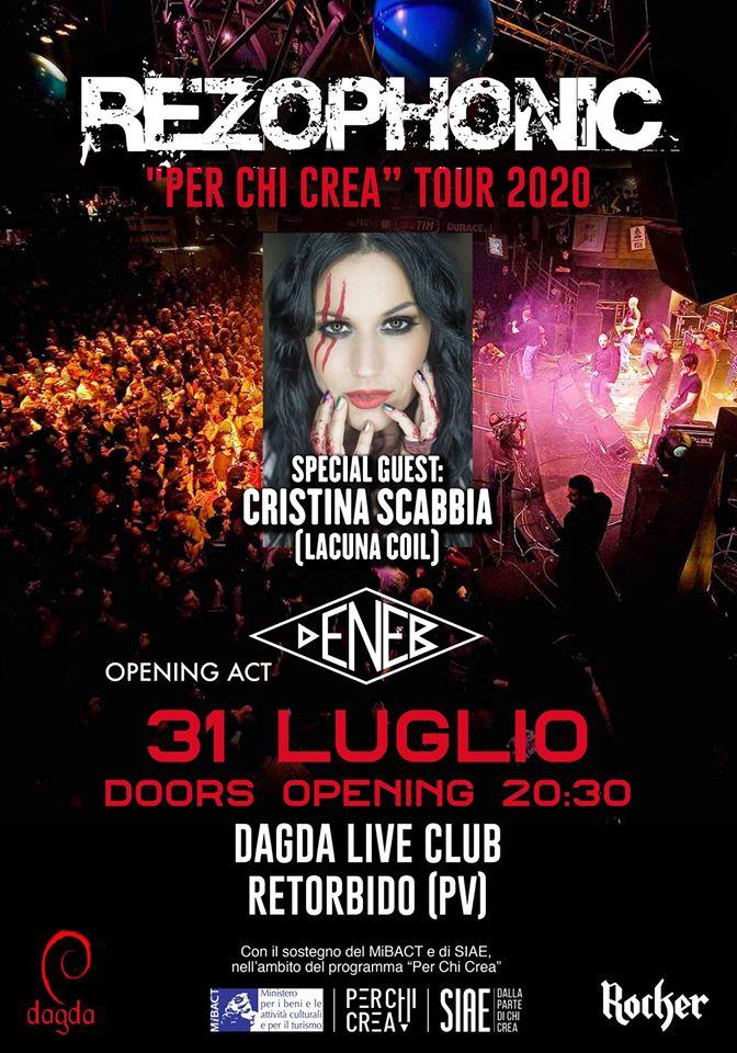 REZOPHONIC: per il compleanno del Dagda Live Club con Cristina Scabbia