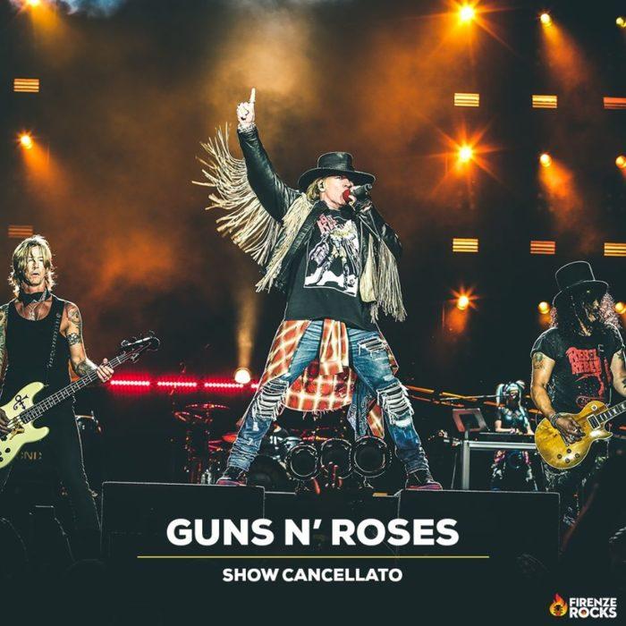 GUNS N' ROSES: il nuovo tour europeo 2021 non comprende l'Italia