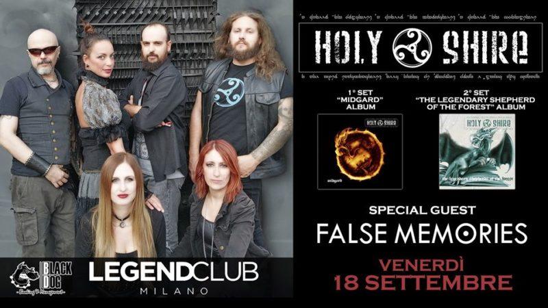 HOLY SHIRE e FALSE MEMORIES: concerto al Legend Club il 18 settembre