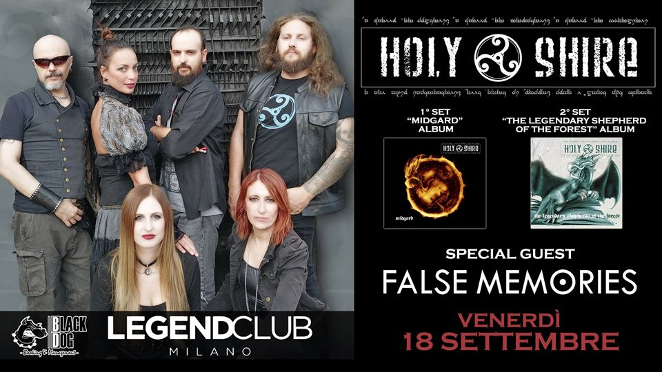 HOLY SHIRE e FALSE MEMORIES: concerto al Legend Club il 18 settembre
