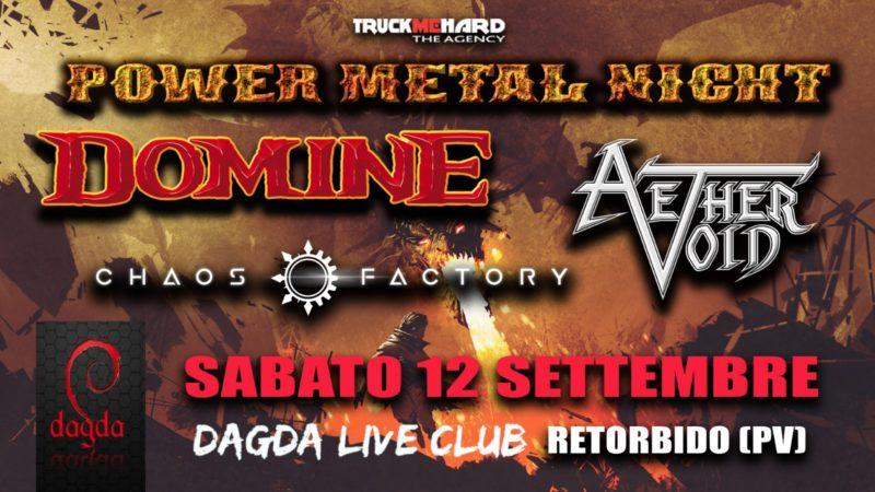 POWER METAL NIGHT: annullato l'evento al Dagda Live Club