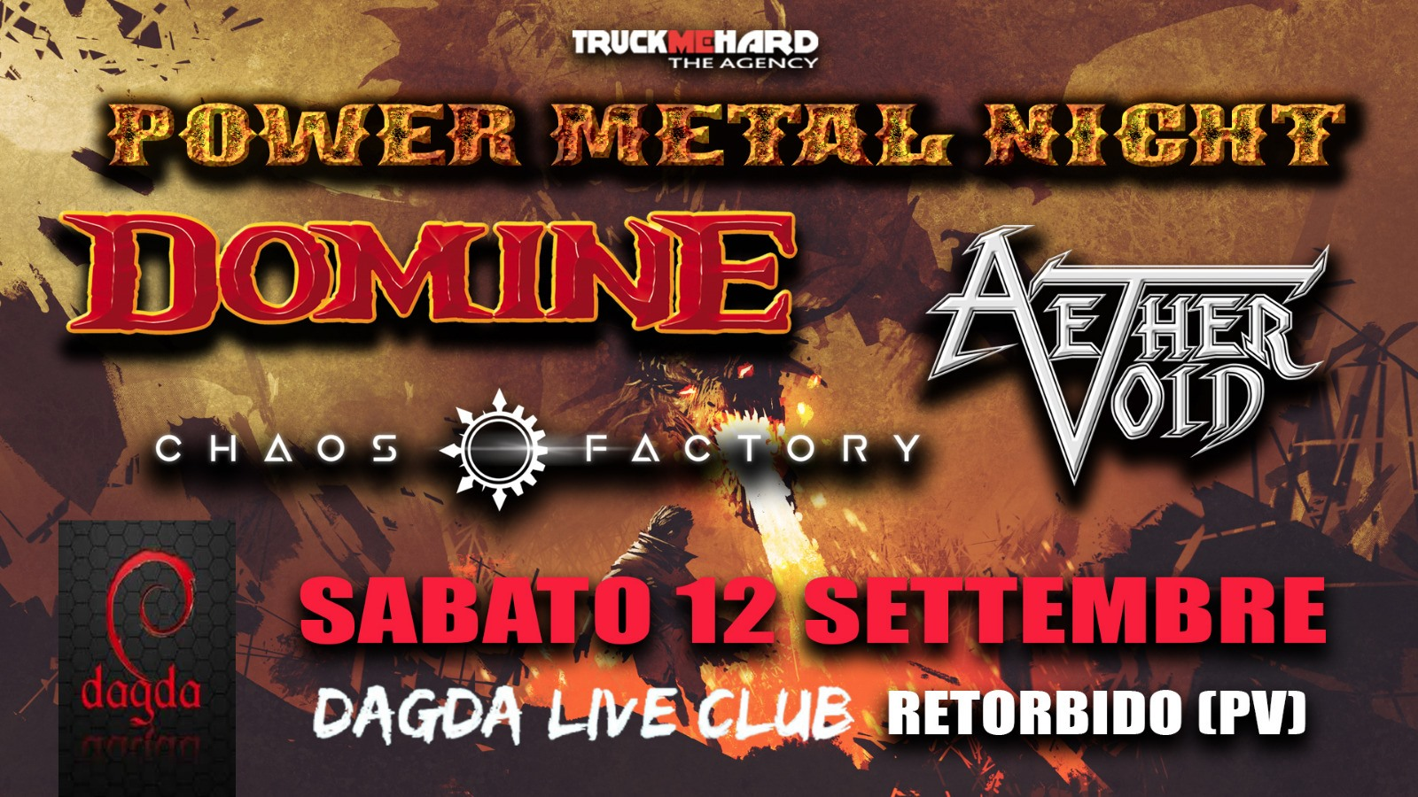 POWER METAL NIGHT: annullato l'evento al Dagda Live Club