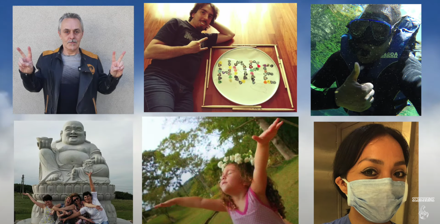 """SCORPIONS: ecco il primo video-collage di """"Sign of Hope"""", con le foto dei fan"""