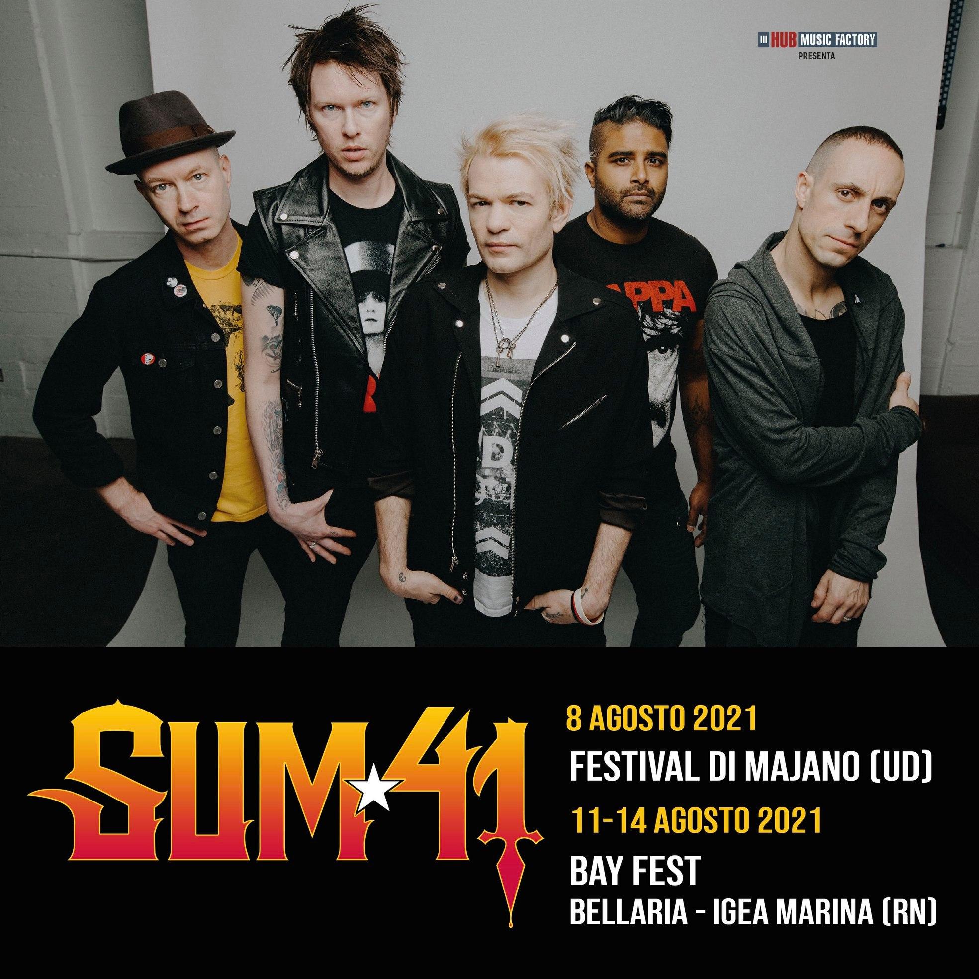 SUM 41: lo show di Majano nel 2021 è anticipato