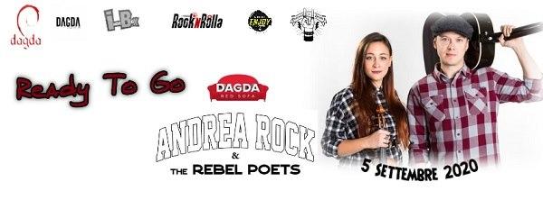 Andrea Rock di Virgin Radio al Dagda Live Club di Retorbido il 5 settembre