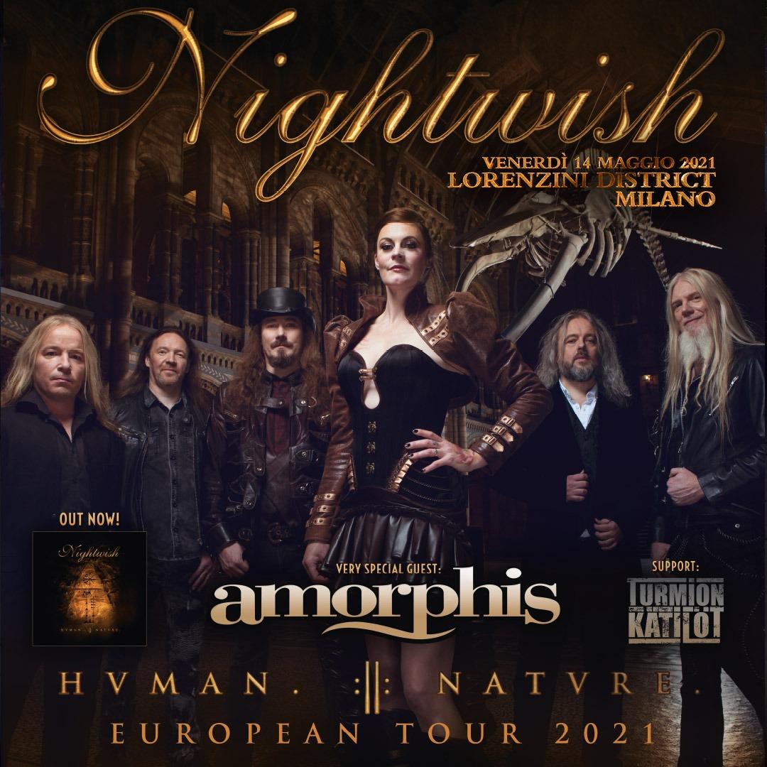 NIGHTWISH e AMORPHIS: la data di dicembre rimandata al 2021