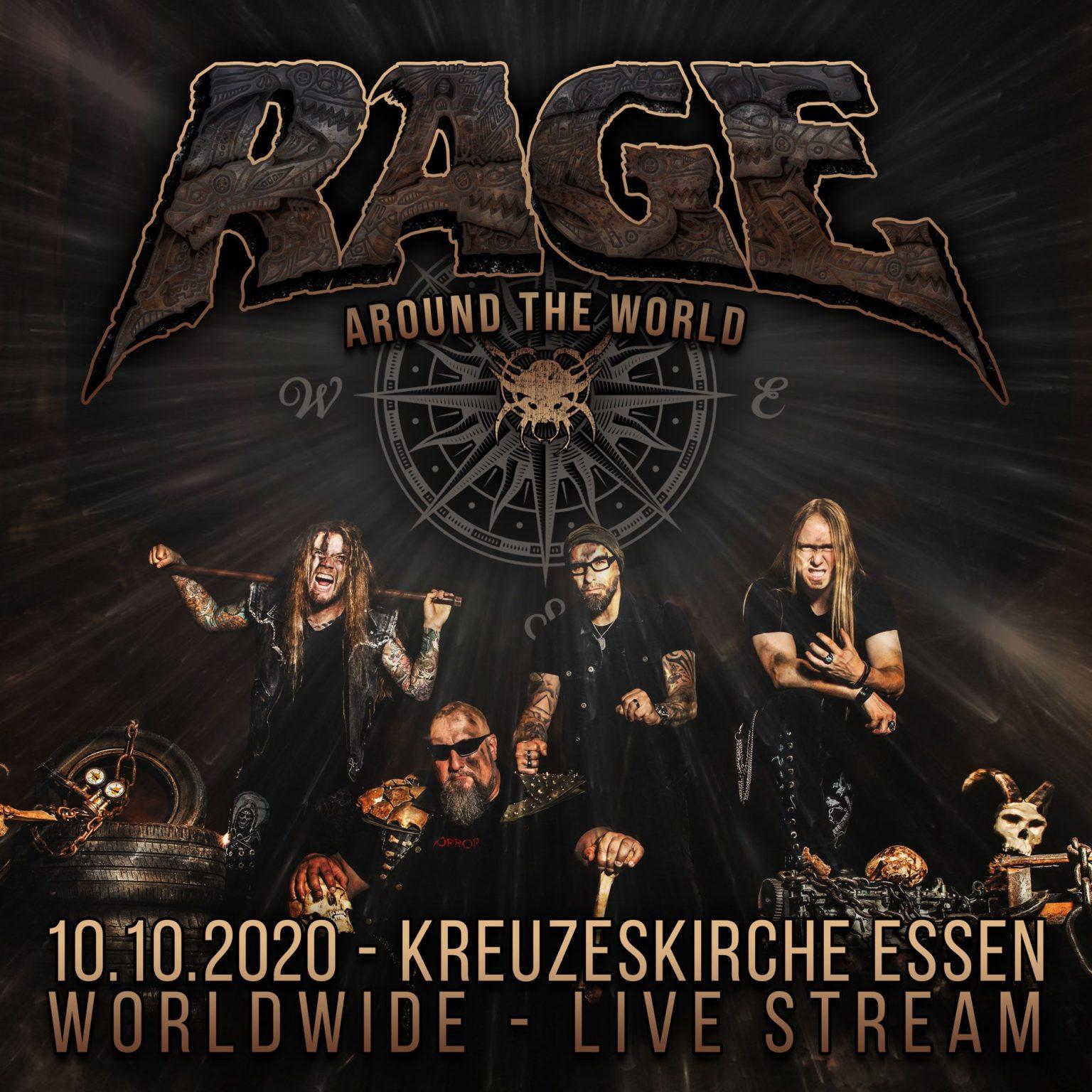 RAGE: un live in streaming a ottobre