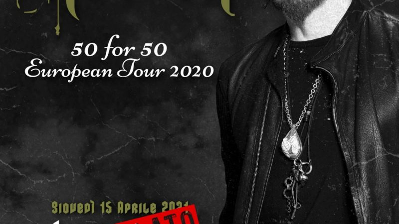 RICHIE KOTZEN: cancellazione del tour europeo 2021
