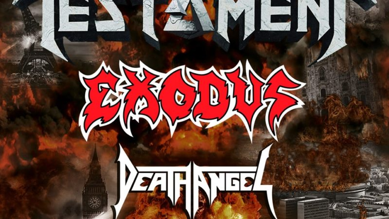 The Bay Strikes Back Tour 2020: la scadenza per richiedere i rimborsi dell'evento con TESTAMENT, EXODUS e DEATH ANGEL è rinviata