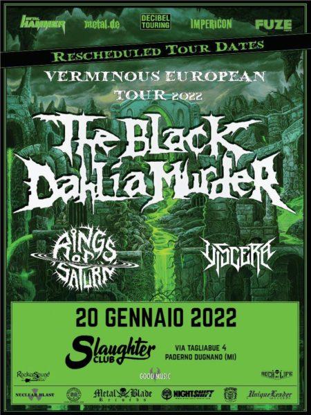 THE BLACK DAHLIA MURDER: la data allo Slaughter club è spostata al 2022