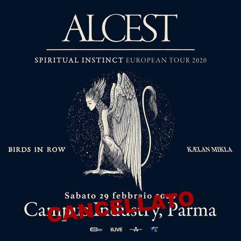 ALCEST: info sui rimborsi della data cancellata di Parma