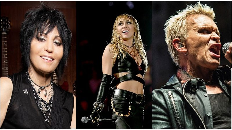 JOAN JETT e BILLY IDOL: ascolta le performance sul nuovo album di MILEY CIRCUS