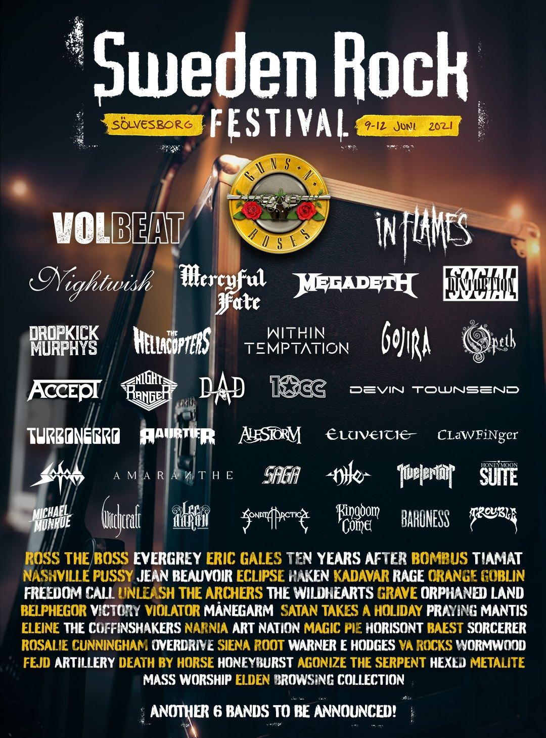 SWEDEN ROCK FESTIVAL 2021: già 80 band confermate