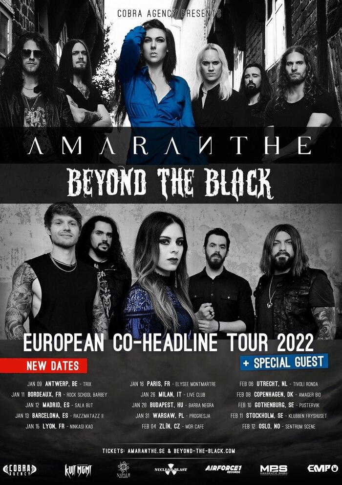 AMARANTHE e BEYOND THE BLACK: rinviato al 2022 il tour europeo