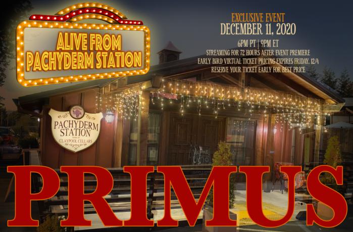 I PRIMUS terranno un concerto virtuale l'11 Dicembre, info e trailer