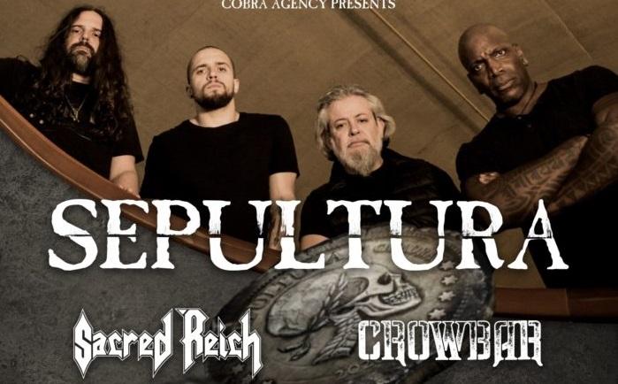 SEPULTURA: tour europeo nel 2021 con SACRED REICH e CROWBAR