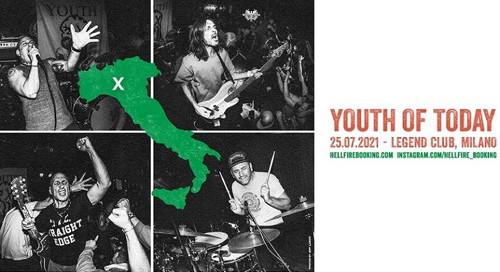 YOUTH OF TODAY: una data live al Legend di Milano a Luglio