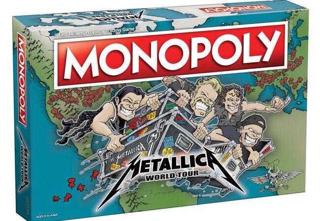 "I METALLICA presentano il loro Monopoly ""World Tour"""