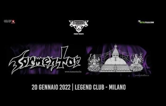 TORMENTOR e CULT OF FIRE una serata insieme al Legend Club di Milano