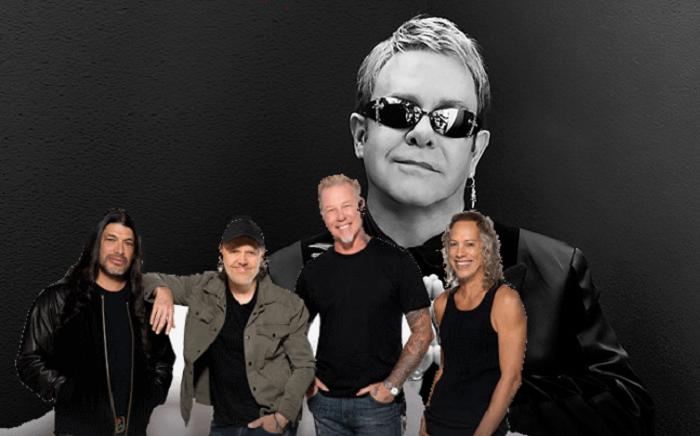ELTON JOHN ha collaborato con i METALLICA negli ultimi mesi