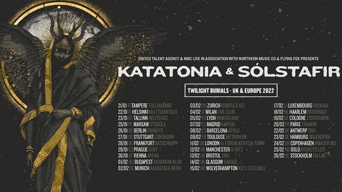 KATATONIA e SÓLSTAFIR: il Twilight Burials Tour passa dall'Italia a Febbraio