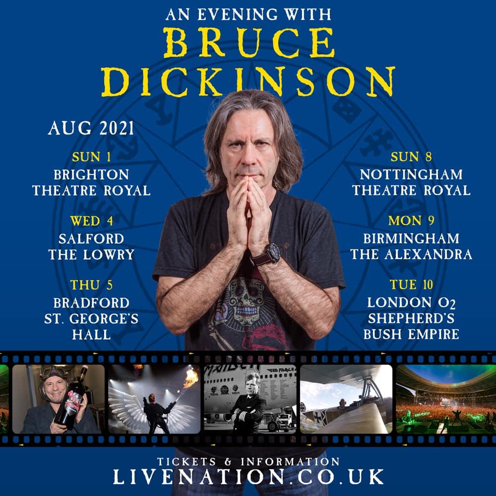 IRON MAIDEN: per lo spoken word tour di Bruce Dickinson ecco altre date