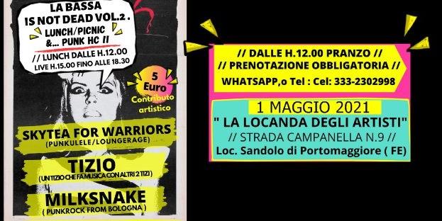 SKYTEA FOR WARRIORS, TIZIO e MILKSNAKE, il 1° Maggio 2021 in provincia di Ferrara