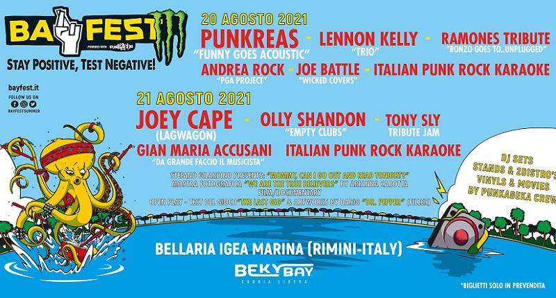 """Ad agosto BAY FEST """"Positive Edition"""" con PUNKREAS, JOE CAPE (LAGWAGON) e altri"""
