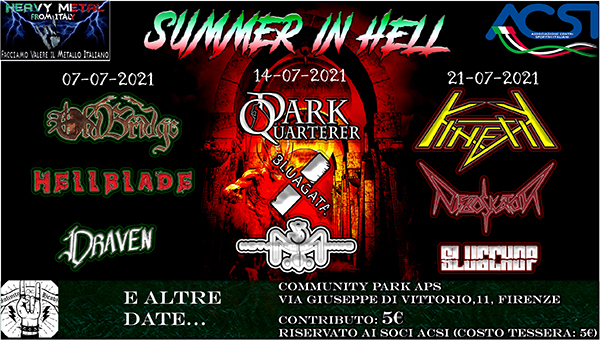 Summer in Hell: il ritorno del Metal Underground!
